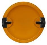 Toboggan isolato sull'arancia bianco- Immagini Stock