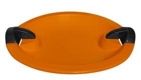 Toboggan isolato sull'arancia bianco- Fotografie Stock Libere da Diritti