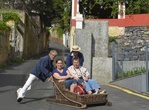 Toboggan at Monte, Madeira, Portugal Stock Image