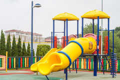 Toboggan. In playground located in the north of Spain, Asturias Stock Photography