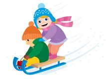 Tobogganing Stock Photo