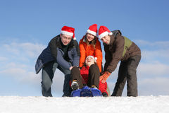 Tobogganing Royalty Free Stock Photos