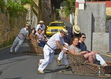 Toboggans at Monte, Madeira, Portugal Royalty Free Stock Image