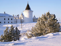 Tobolsk克里姆林宫。东北塔 免版税库存图片
