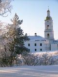 Tobolsk克里姆林宫。修道院大厦和钟楼 免版税库存照片