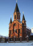 Tobolsk. Catholic Cathedral. The catholic Cathedral at the Tobolsk Stock Photography
