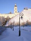 Tobolsk der Kreml. Ansicht des Sofia-vzvoz und des Rentereya. Stockbild