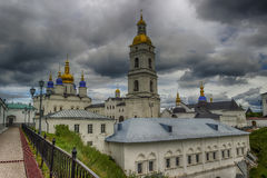 Tobolsk Kremlin and belfry Sophia-Assumption Cathedral panorama Royalty Free Stock Photos
