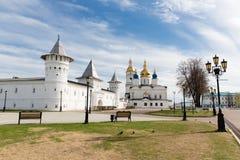 Tobolsk Kremlin. Kremlin complex. Guests Yard. St. Sophia-Assumption Cathedral Royalty Free Stock Images