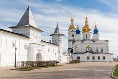 Tobolsk Kremlin. Kremlin complex. Guests Yard. St. Sophia-Assumption Cathedral Royalty Free Stock Image