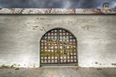 Tobolsk Kremlin gates panorama menacing sky Royalty Free Stock Image