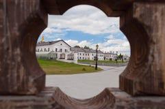 Tobolsk Kremlin przez bramy Zdjęcie Royalty Free
