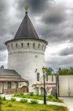 Tobolsk Kremlin sentry towers menacing sky Russia Royalty Free Stock Images