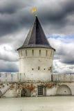 Tobolsk Kremlin sentry towers menacing sky Russia Royalty Free Stock Photo