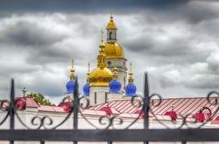 Tobolsk Kremlin  Sophia-Assumption Cathedral menacing sky. Hdr Russia Siberia Asia Royalty Free Stock Photos
