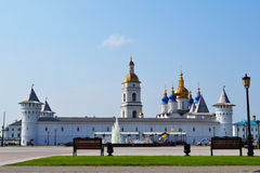 The Tobolsk Kremlin in a summer sunny day, Russia. Royalty Free Stock Images