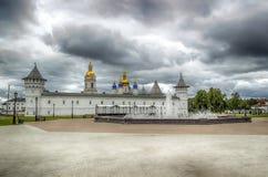 Tobolsk Kremlin view  Gostiny Dvor menacing sky  Russia Siberia Stock Photography