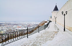 Tobolsk Kremlin Walls And View Of Town Low Part Stock Images