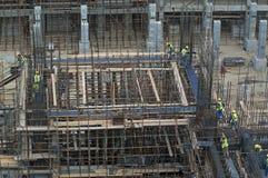 Tobolsk, Rússia - 16 de julho 2017: o ` do ` SIBUR da empresa Construção em grande escala do complexo químico do gás Foto de Stock Royalty Free