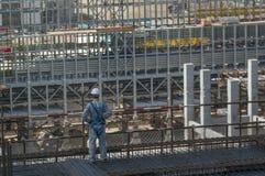 Tobolsk, Rusia - 16 de julio 2017: el ` del ` SIBUR de la compañía Construcción en grande del complejo químico del gas Imagen de archivo libre de regalías