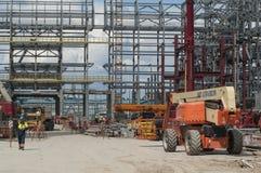 Tobolsk, Rusia - 16 de julio 2017: el ` del ` SIBUR de la compañía Construcción en grande del complejo químico del gas Imágenes de archivo libres de regalías
