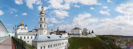Tobolsk, Russia - June 2, 2013. Tobolsk Kremlin. Panorama of St. Sophia Cathedral of the Assumption in Tobolsk Kremlin on the hill Stock Image