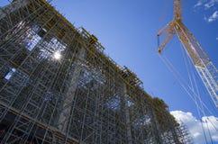 Tobolsk, Russie - 16 juillet 2017 : le ` du ` SIBUR de société Construction à grande échelle du complexe chimique de gaz Images stock
