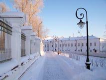 Tobolsk. Straat van de stad in. Stock Afbeelding