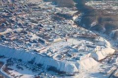 Tobolsk, Tyumen Region, Russia In Winter, Top View Royalty Free Stock Photography
