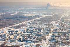 Tobolsk, Tyumen region, Russia in winter, top view Royalty Free Stock Images