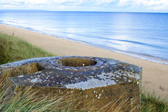 Tobruk bunker WW2 ,Utah beach. Royalty Free Stock Images
