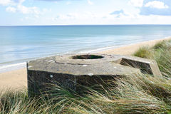 Tobruk bunker WW2 ,Utah beach. stock photography