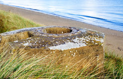 Tobruk bunker WW2 ,Utah beach. stock photo