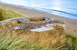 Tobruk bunker WW2 ,Utah beach. Stock Photo