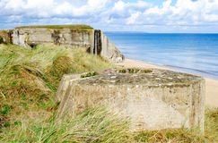 Tobruk bunker WW2 Utah beach royalty free stock photo