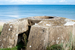 Tobruk bunker WW2 ,Utah beach. Royalty Free Stock Photo
