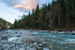 Toby Creek en la puesta del sol Imágenes de archivo libres de regalías