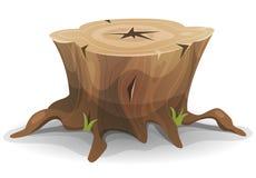 Tocón de árbol cómico ilustración del vector