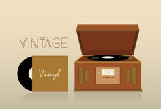 Tocadiscos del vintage Imagen de archivo libre de regalías