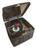 Tocadiscos portátil del tubo de la baquelita fotos de archivo