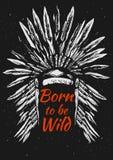 Tocado de la pluma de los nativos americanos Fotografía de archivo