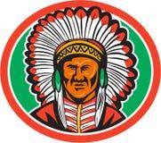 Tocado del jefe indio del nativo americano Fotos de archivo