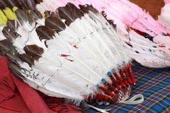 Tocado del jefe indio del nativo americano Foto de archivo libre de regalías