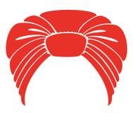 Tocado nacional tradicional, turbante Bufanda roja hecha punto Logotipo, s?mbolo, diagrama Imagen gr?fica Ilustraci?n del vector stock de ilustración