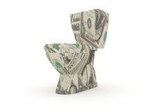 Tocador hecho por las cuentas de dólar Imagen de archivo