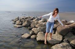 Tocando na água foto de stock royalty free