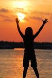 Tocando no Sun Imagem de Stock