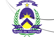 Tocantins Coat of Arms, Brazil. Stock Photo