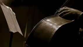 Tocar el violoncelo Imagenes de archivo