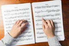Tocar música à primeira vista Fotografia de Stock